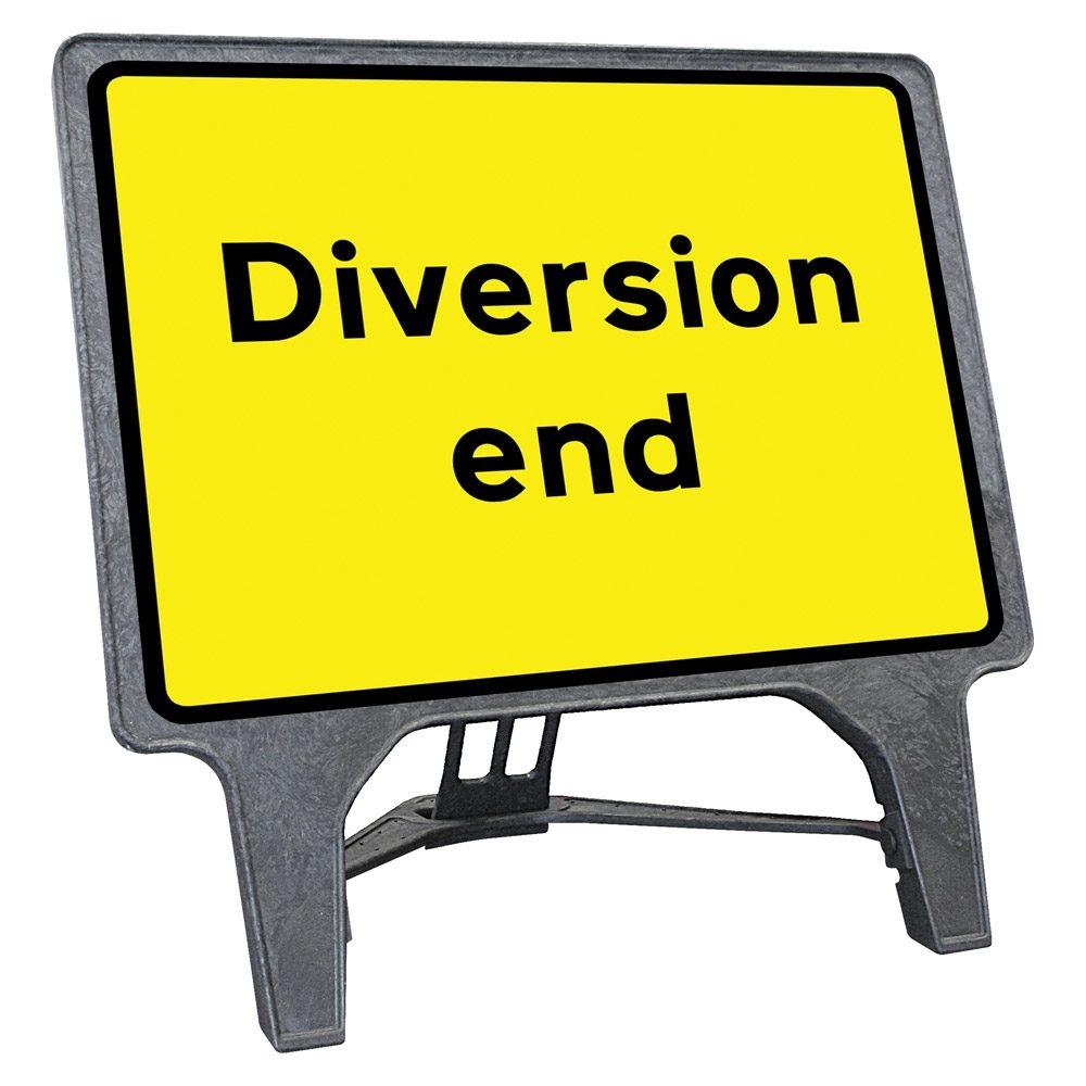 CuStack Diversion End Sign - 1050 x 750mm