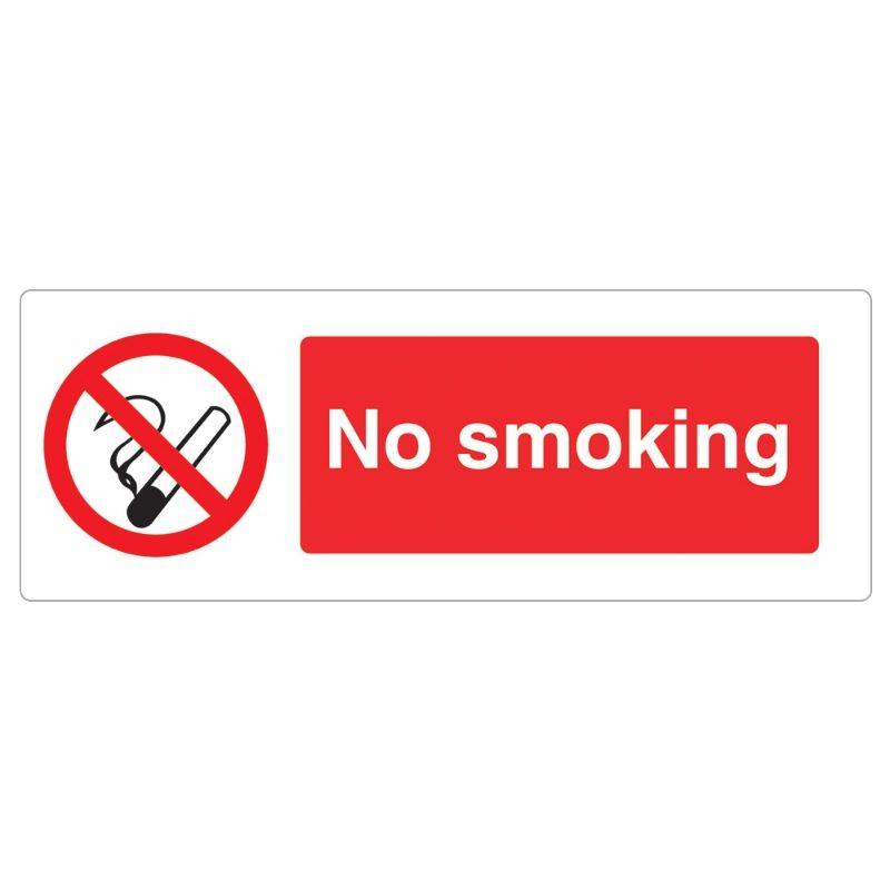 No Smoking Sign - 600 x 200 x 1mm